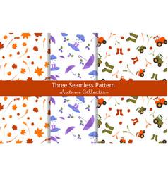 Seamless pattern autumn collection vector