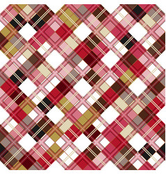 Seamless tartan pattern checkered colorful pnk vector