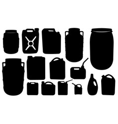 Set of barrels and canisters vector