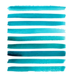 Set of watercolor stripes vector