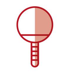 shadow ping pong racket vector image