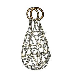 Shopping reusable grocery cloth string bag string vector