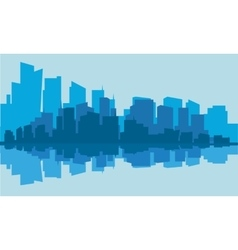 Silhouette of industry with blue background vector