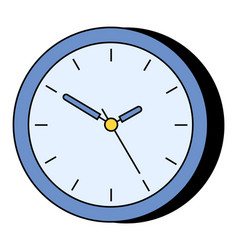 simple wall clock instrument to indicate time vector image