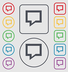 Speech bubble Think cloud icon sign symbol on the vector image
