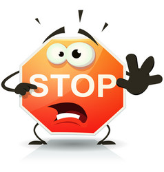 stop road sign icon character vector image