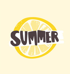 Summer word written with funky calligraphic font vector