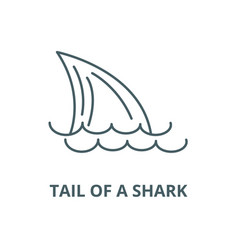 Tail a sharksea line icon linear vector