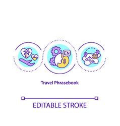 Travel phrasebook concept icon vector