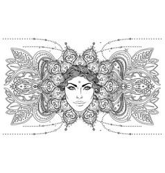 tribal fusion boho goddess beautiful divine diva vector image