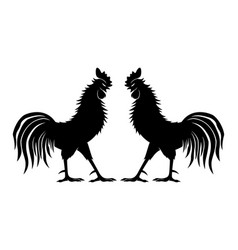 Two fighting cocks vector