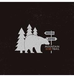 Vintage national park emblem Retro vector image
