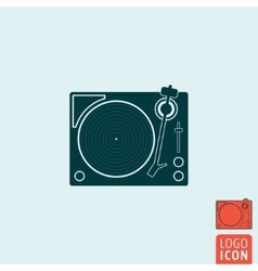 Vinyl record player icon isolated vector image