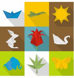 Whatman icons set flat style vector