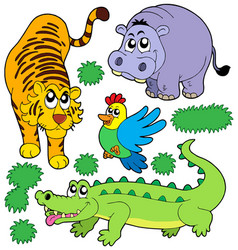 zoo animals collection 5 vector image