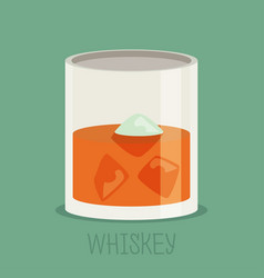 colorful whiskey icon drink flat design vector image
