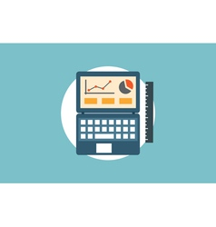 Concept of analytics research information and webs vector image