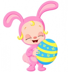 easter baby vector image