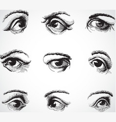 live traced eyes vector image vector image