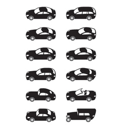 Modern cars from above vector image vector image
