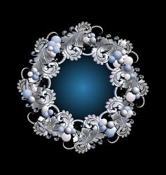 wreath silver vector image