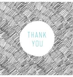 thank you card hand drawn vector image vector image