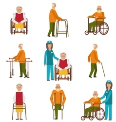 Various Degrees of Injuries and Disabilities vector image