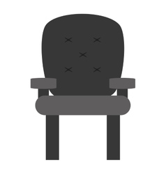 Cushioned armchair vector