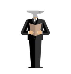 man anvil businessman harsh boss incus manager vector image