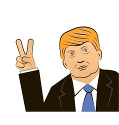 March 11 2016 Donald Trump portrait vector image