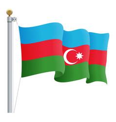waving azerbaijan flag isolated on a white vector image vector image