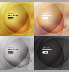 abstract light backgrounds set vector image