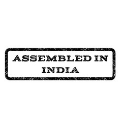 assembled in india watermark stamp vector image vector image