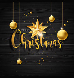 christmas with typography and vector image vector image