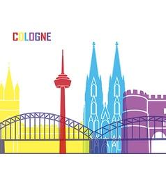 Cologne skyline pop vector image
