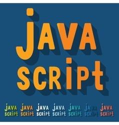 Flat design java script vector image