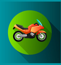 flat design moto icons vector image vector image