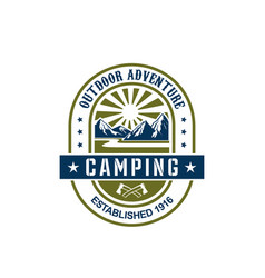 icon for camping outdoor adventure vector image vector image