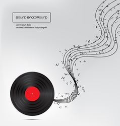 Music background with plate vector image