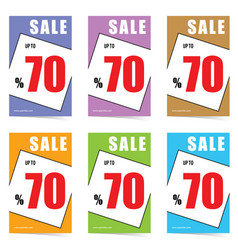 poster of sale 70 percent set in color design vector image vector image