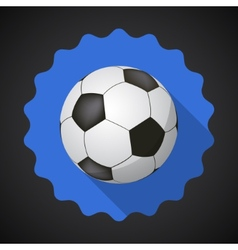 Sport Ball Football Soccer Flat icon background vector image