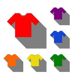 t-shirt sign set of red orange vector image