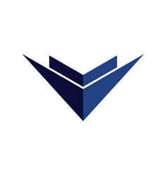 abstract building arrow logo icon concept vector image
