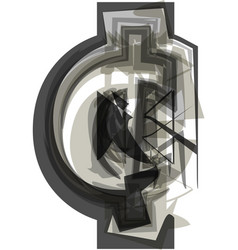 Abstract cent symbol vector