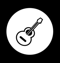 acoustic guitar icon design vector image