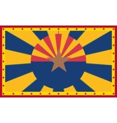 Arizona state sun rays banner vector image