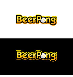 beer pong logo vector image