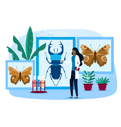 Biology botany zoology concept vector