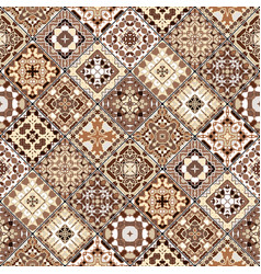 brown and beige abstract patterns in the mosaic vector image