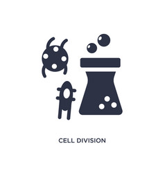 Cell division icon on white background simple vector